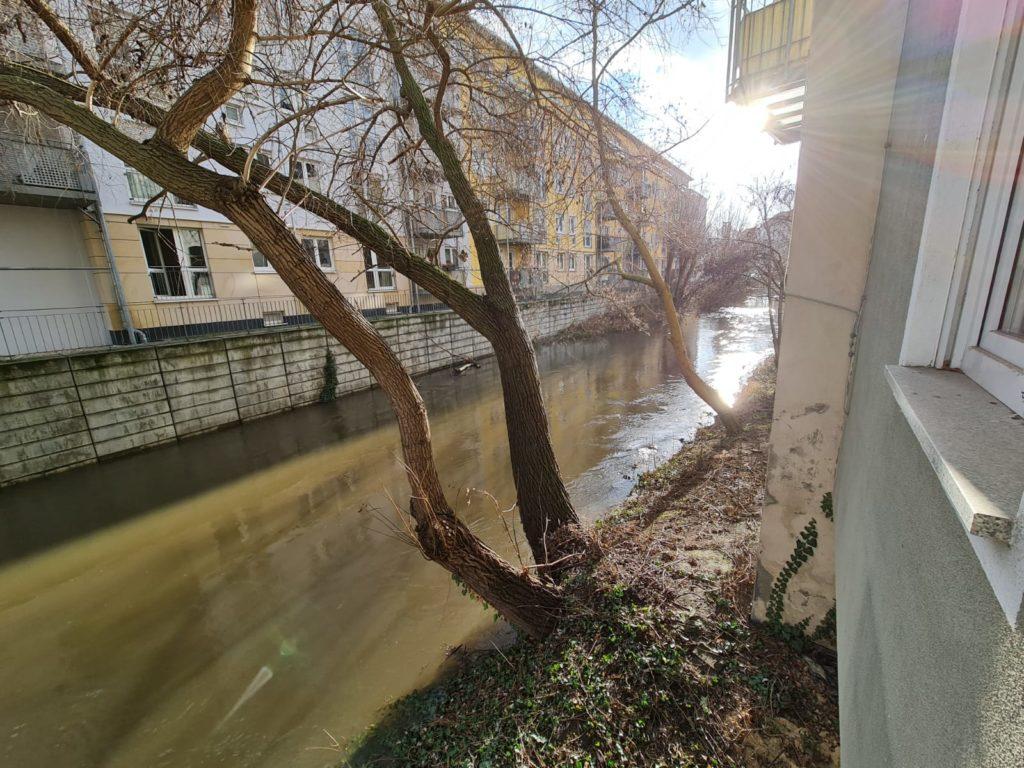 Hochwassersituation in Halle Derzeit sorgen sich viele Bürger nicht nur um die aktuelle Coronalage.